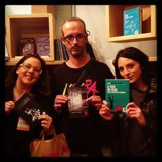 Laura, Claudio e Novella, con La variante Moro, Rabbia e camorra, Il paese dei veleni, quando #face4books era #faccedalibro a #piulibri13 #inchiesta #narrativa #romanzostorico #libri