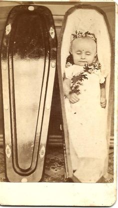 VICTORIAN REAL PHOTO CORPSE BABY CASKET FUNERAL FLOWERS POST MORTEM OMAHA NEB