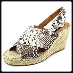 Steven Steve Madden Stelarr Damen US 9.5 Beige Keilabsätze Sandale -  Sandalen für frauen (*