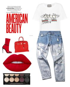 """""""Untitled #40"""" by kevinloe on Polyvore featuring Gucci, Hermès, Lime Crime and Witchery"""