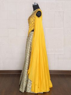 Shop Pista green color silk party lehenga choli online from India. Indian Dress Up, Indian Gowns Dresses, Indian Fashion Dresses, Indian Designer Outfits, Indian Wear, Stylish Dresses For Girls, Stylish Dress Designs, Lehnga Dress, Lehenga Choli