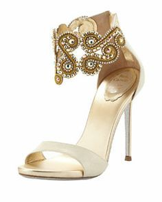 Gold Shoes Boots | ... about Shoe Me on Pinterest | Rene caovilla, Sandals and Court shoes