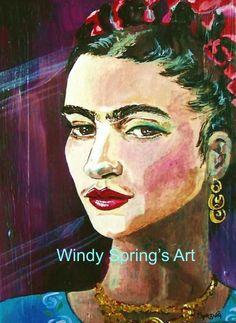 Frida Kahlo 12x16 Canvas Giclee Print Day of the Dead Sugar Skull Mexican Folk #Mexican