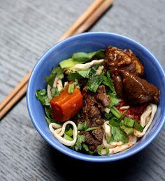 NOMz: Taiwanese Beef Noodle Soup (Niu Rou Mien)