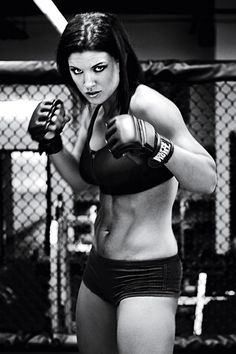 """(Hate the headline but love the picture.) Gina Carano, previous """"Face of Women's MMA"""" Trained in Muay Thai, was ranked in WMMA wins, 1 loss), middleweight Female Mma Fighters, Ufc Fighters, Female Fighter, Muay Thai, Carlos Gracie, Ju Jitsu, Body Issues, Mixed Martial Arts, Female Athletes"""