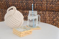 Nautical Chart Coaster Set of 4 on Tumbled Marble by lagoonlife