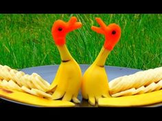 Step By Step: How It's Made Banana Rubber Ducks | Banana Art | Fruit Carving Banana Decoration - YouTube