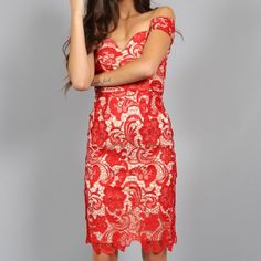 Southern Girl Fashion Dresses - LACE DRESS Off Shoulder Fitted Floral Bodycon Mini