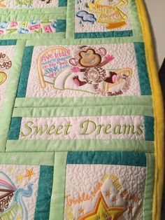 nursery rhyme quilt by Cocopuffin on Etsy