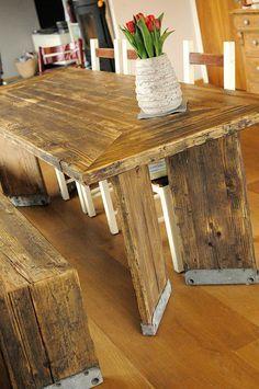 Möbel aus gerüstbohlen  Tisch Gerüstbohlen | Tische | Pinterest | Gerüstbohlen, Tisch und ...
