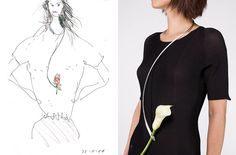 concept sketch and prototype of jewelry piece by future systems, 2004