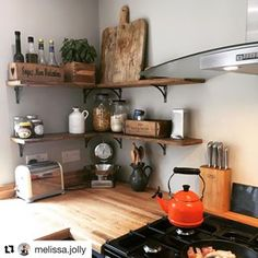 55 Best Rustic Shelving Images Open Shelving Diner