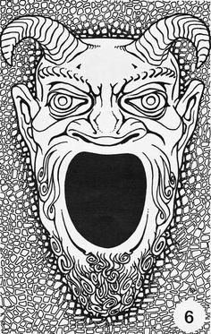 The original Face of the Great Green Devil by Dave Trampier.