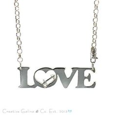 """""""All or Nothing"""" Dumbbell Jewelry Necklace"""