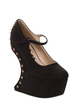 Jenna Black Suede Spiked Wedge   Devil costume. Aaand.... Every other day of the year.