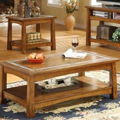 Riverside Furniture Craftsman Home Coffee Table Set