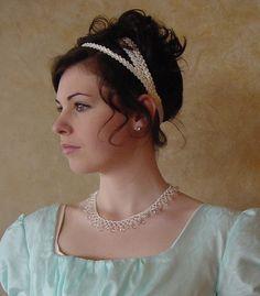 CUSTOM Regency Jane Austen 3 strap Headband by MattiOnline on Etsy, $29.00