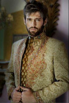 Printed Sherwani vest from Amir Adnan ♥