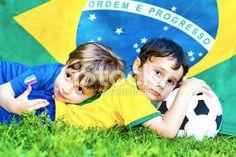 Two little soccer fans - Italy vs Brazil #soccer #microstock #worldcup #brazil #italy #italia #brazil2014 #worldcup2014 #fairplay #friends #children