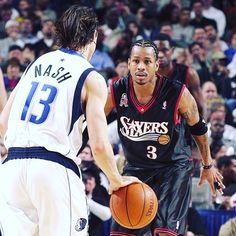 two of the best!  #alleniverson #iverson #nash #stevenash #sixers #nba