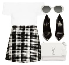 """#13709"" by vany-alvarado ❤ liked on Polyvore featuring Helmut Lang, River Island and Yves Saint Laurent"