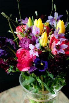 spring flower arrangement ~