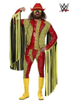 This officially licensed Macho Man Randy Savage costume will transform you into a WWE pro wrestling star.