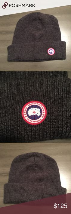 NWOT Canada Goose Gray Logo Ribbed Beanie Hat Brand  Canada Goose  Condition  Brand new without tags Retail Price (MSRP)   150 Style  Logo  Ribbed Beanie Hat ... 937184435e4a