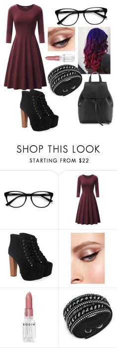 Movie Opening by romeavesisters on Polyvore featuring Jeffrey Campbell, Swarovski, EyeBuyDirect.com and Rodin