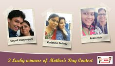 We are happy to announce the 3 lucky winners of SurpriseForU Mother's day contest! Congratulations to all the 3 lucky winners of the contest.   #cakes #freecakedelivery #mothersday #contest #selfiewithmom #winners   #SurpriseForU #Ahmedabad