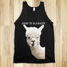 Como te Lama #black #tank #top #lama #funny #quote