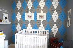 oh my gosh I love this idea for a baby boy's room!!!