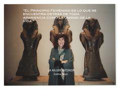 """""""El principio femenino es lo que se encuentra detrás de toda apariencia como la unidad de la vida"""" Zulma Reyo #LaMujerInterior"""
