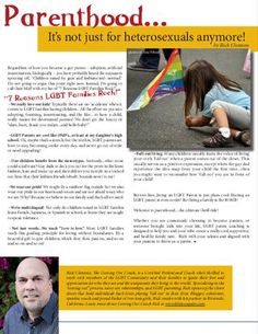 LGBT Parenting - It's not just for Heterosexuals anymore! #lgbt #lgbtparenting #gayfamilies
