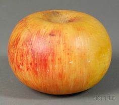 Large Carved Stone Apple, probably Italy, ce : Lot 2388 Fruit Love, Stone Fruit, Stone Carving, Primitives, Fruits And Vegetables, Apples, Colonial, Folk Art, Rocks