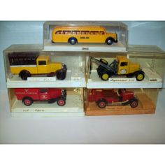 CARS SOLIDO & BREKINA CITROEN FIRE TOW TRUCK SCHOOL BUS MADE IN FRANCE VINTAGE