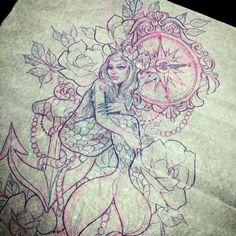 Tattoo inspiration hot ink ocean tattoos, nature tattoos и m Sea Tattoo Sleeve, Nautical Tattoo Sleeve, Mermaid Sleeve Tattoos, Nature Tattoo Sleeve, Sleeve Tattoos For Women, Tattoo Nature, Nautical Tattoos, Vintage Nautical Tattoo, Tattoos Mandala