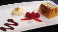 Chocolate Croissant Pudding With Clotted Cream and Berries - Masterchef