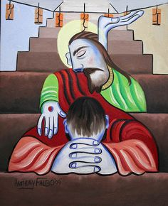 In Jesus Name Giclee Fine Art Canvas Print Anthony Falbo
