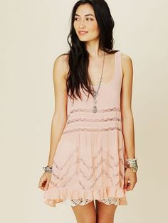 "Free People ""Viole Trapeze Slip"" in blush. So pretty."