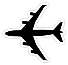 Airplane stickers featuring millions of original designs created by independent artists. Tumblr Stickers, Diy Stickers, Printable Stickers, Laptop Stickers, Airplane Icon, Vsco, Airplane Drawing, Black And White Stickers, Aesthetic Stickers