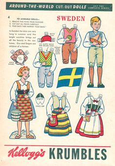 The Paper Collector: Kellogg's Krumbles Sweden Cut-Out Dolls