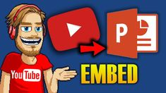 HOW TO EMBED A YOUTUBE VIDEO INTO POWERPOINT Hacks, Technology, Tips, Youtube, Fictional Characters, Glitch, Fantasy Characters, Engineering