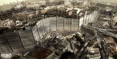 World War Z - concept art - Seth Engstrom Post Apocalypse, Survival Day, Cthulhu, Creepy, Brad Pitt, Dystopia Rising, Post Apocalyptic Art, Zombie Art, Military Pictures