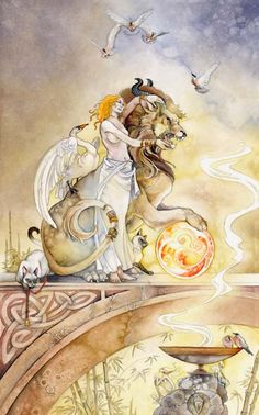 Stephanie Pui-Mun Law, talented artist I have followed for many years. Something about this leads me to feel the strength is in the woman rather than the beast...