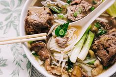Instant Pot Oxtail Pho Bo (Vietnamese Beef Noodle Soup with Oxtail) | Hungry Wanderlust Curry Recipes, Beef Recipes, Soup Recipes, Beef Noodle Soup, Beef And Noodles, Pho Spices, South African Recipes, Ethnic Recipes, Oxtail Meat