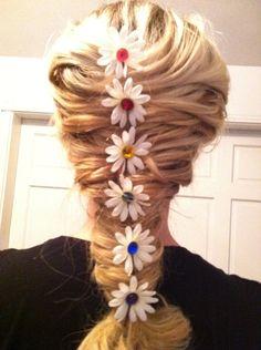 EDC Rainbow Daisy Hair clips. $7.50, via Etsy.