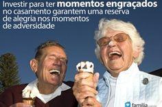 O casamento é uma relação de amor, cumplicidade, mas também de muitos momentos alegres e divertidos.