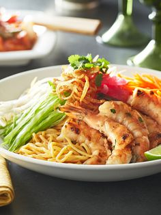 Grilled Prawns with Peanut Noodle Salad / #pfcsummer | who wants some?