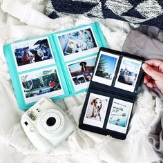 I either want the white or strawberry color camera Mini Instax Photo Album - Urban Outfitters Polaroid Instax Mini, Instax Photo Album, Fujifilm Instax Mini 8, Instax 8, Polaroid Camera Pictures, Polaroids, Polaroid Ideas, Polaroid Cameras, Instax Mini Ideas